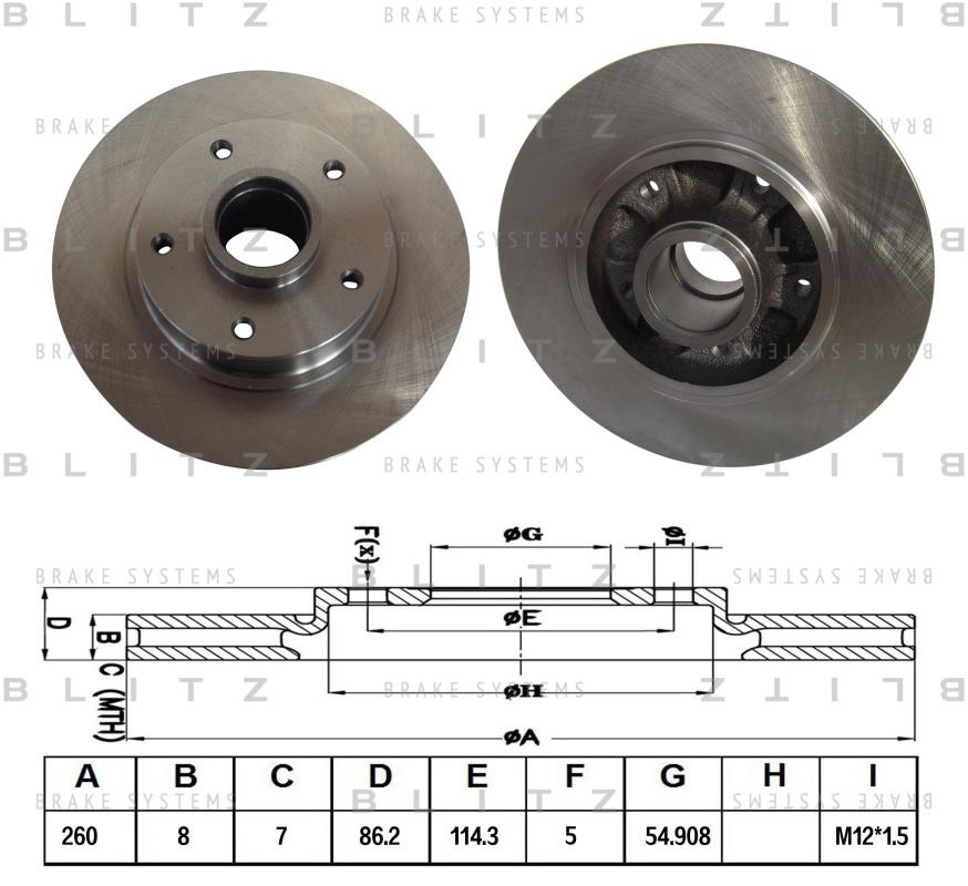 Диск тормозной BLITZ автотовары BS0301BS0301