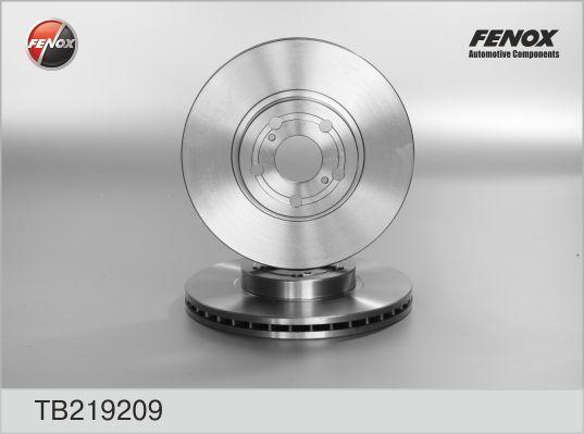 Диск тормозной Fenox TB219209 комплект 2 штTB219209