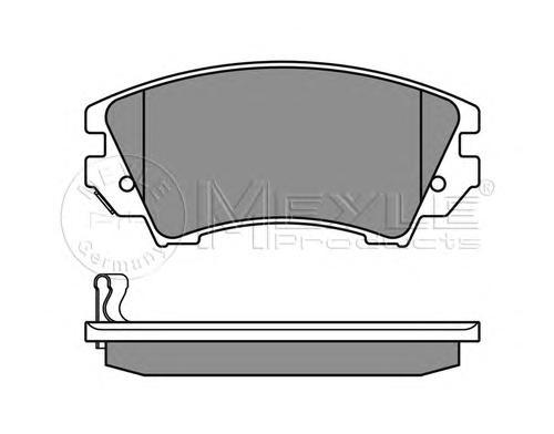Колодки тормозные задние Meyle 0252441219W0252441219W