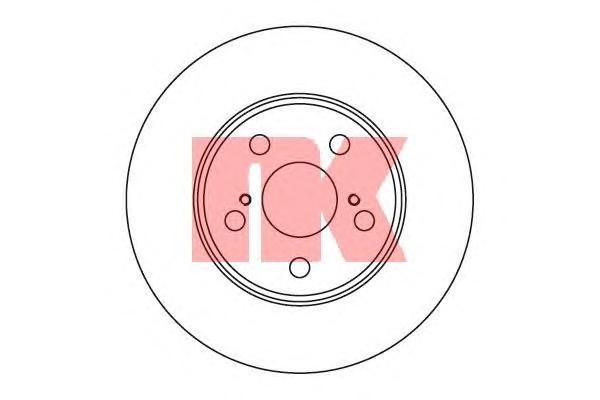 Диск тормозной NK 204539 комплект 2 шт204539