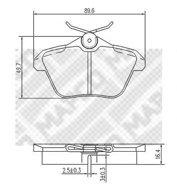 Колодки тормозные задние Mapco 67736773
