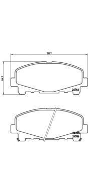 Колодки тормозные передние Brembo P28043P28043