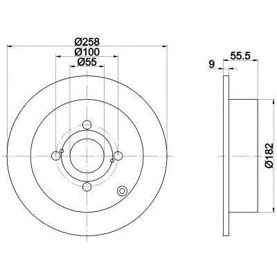 Диск тормозной Pro BEHR-HELLA 8DD355110471 комплект 2 шт8DD355110471