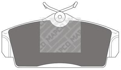 Колодки тормозные передние Mapco 64846484