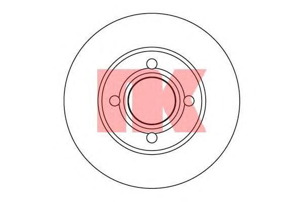 Диск тормозной NK 204737 комплект 2 шт204737