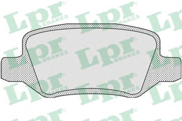 Колодки тормозные дисковые задние LPR / AP 05P85005P850