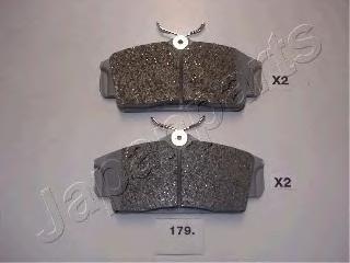 Колодки тормозные дисковые Japanparts PA179AFPA179AF