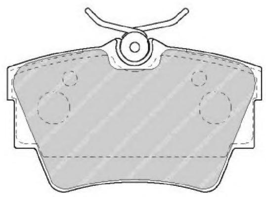 Колодки тормозные дисковые Premier Ferodo FVR1516FVR1516