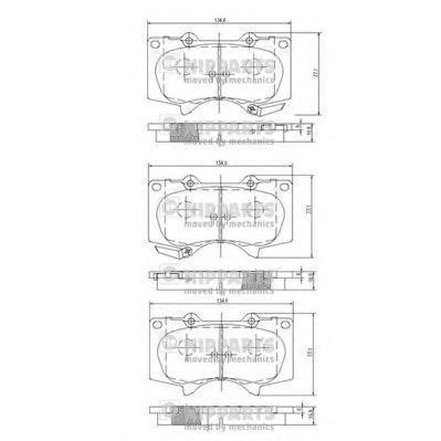 Колодки тормозные передние Nipparts J3602109J3602109