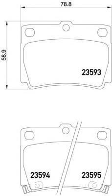 Колодки тормозные дисковые, комплект BEHR-HELLA 8DB3550095018DB355009501