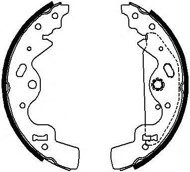 Колодки тормозные барабанные Ferodo FSB651FSB651