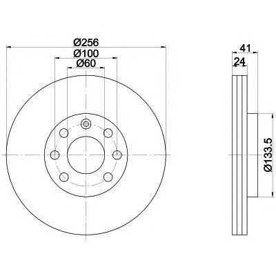 Диск тормозной Pro BEHR-HELLA 8DD355101501 комплект 2 шт8DD355101501