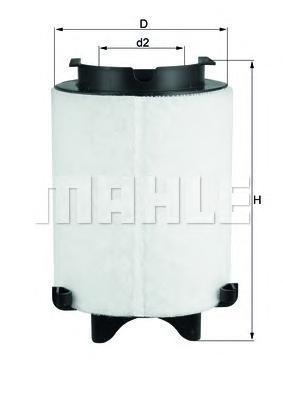Фильтр воздушный Mahle/Knecht LX15661LX15661