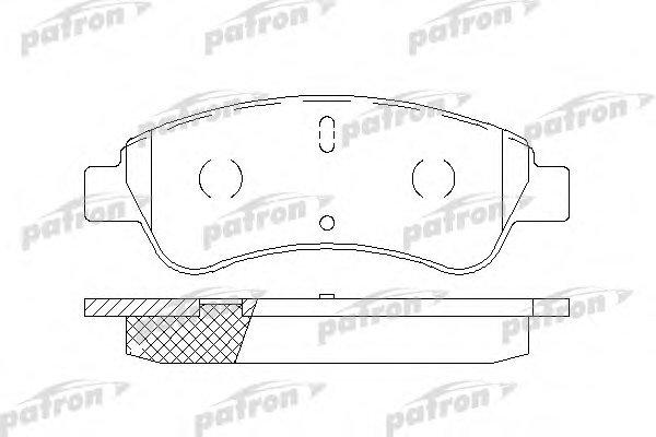 Колодки тормозные дисковые передниеPatron PBP1399PBP1399