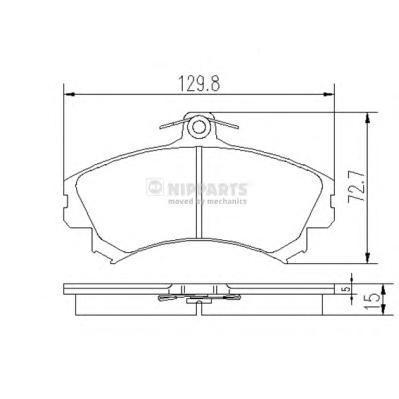 Колодки тормозные передние Nipparts J3605036J3605036