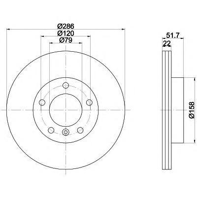 Диск тормозной Textar 92055603 комплект 2 шт92055603