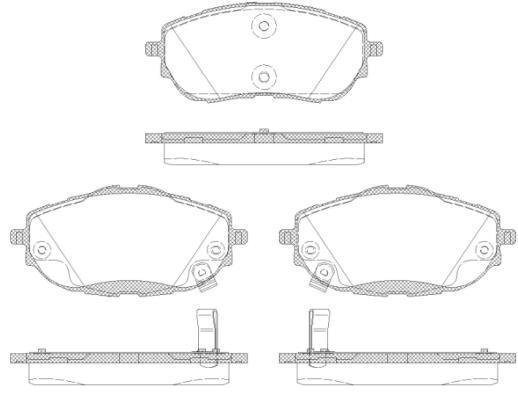 Колодки тормозные дисковые передние Remsa 156102156102
