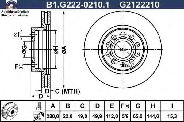 Диск тормозной Galfer B1G22202101B1G22202101