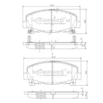 Колодки тормозные передние Nipparts N3604069N3604069