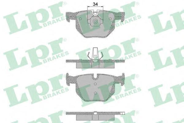 Колодки тормозные задний LPR / AP 05P147205P1472