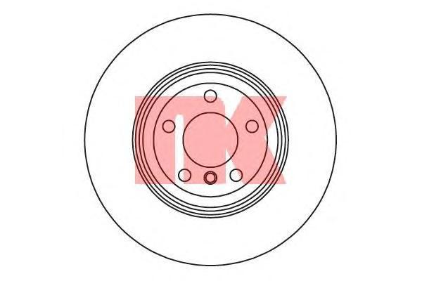 Диск тормозной задний D=345мм NK 201590 комплект 2 шт201590