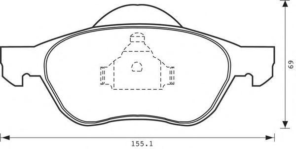 Колодки тормозные дисковые 4 шт, передние Jurid 573017J573017J