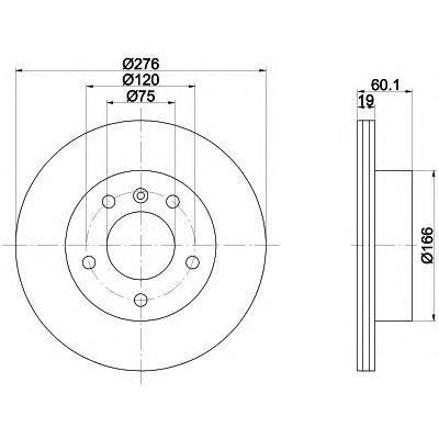 Диск тормозной задний Textar 9207240392072403