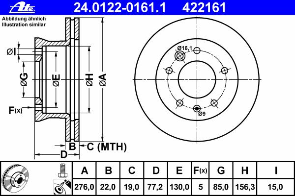 Диск тормозной Ate 24012201611 комплект 2 шт24012201611