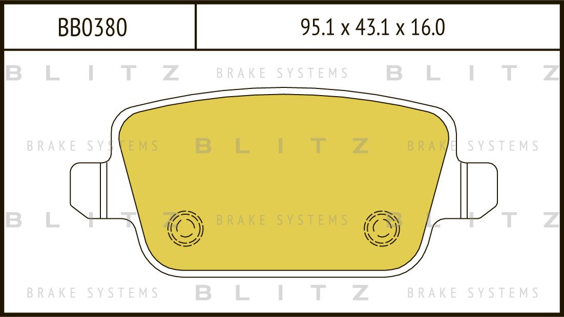 Колодки тормозные дисковые BLITZ автотовары BB0380BB0380