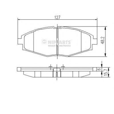 Колодки тормозные передние Nipparts J3600909J3600909
