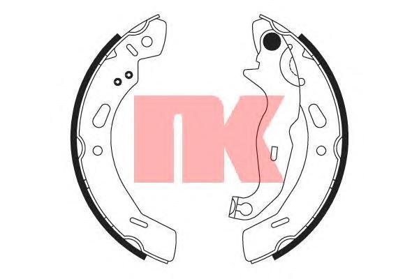 Колодки тормозные барабанные NK 27257622725762