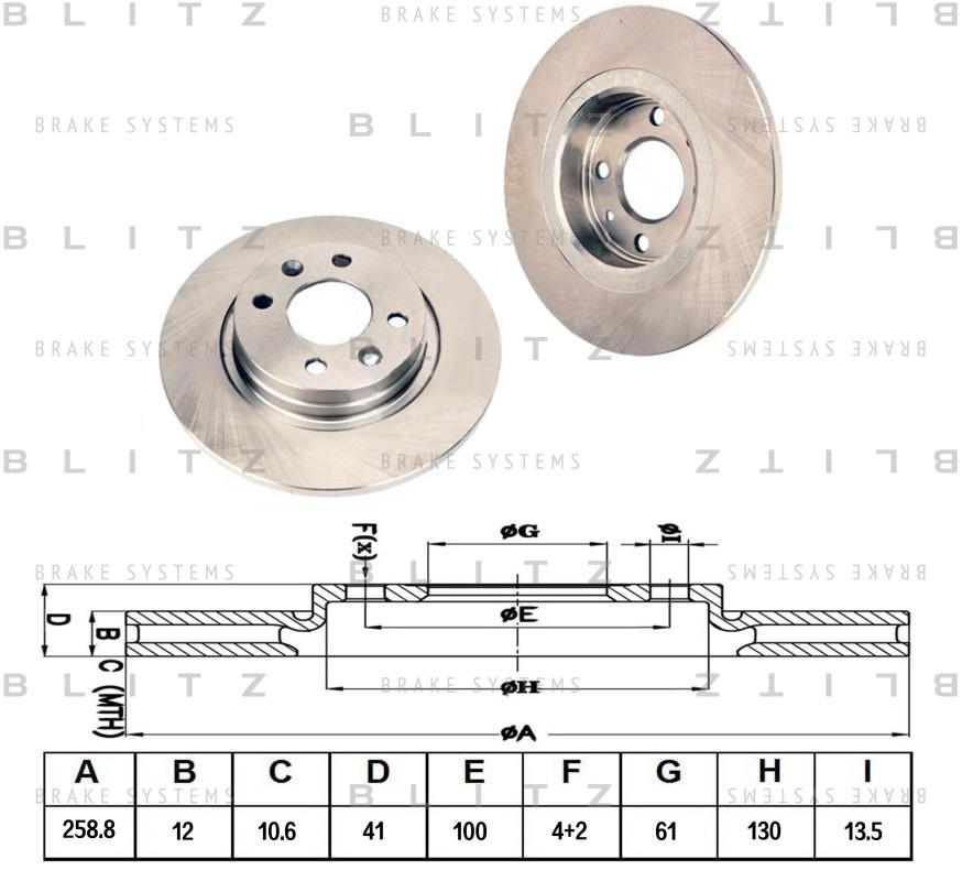 Диск тормозной BLITZ автотовары BS0200BS0200