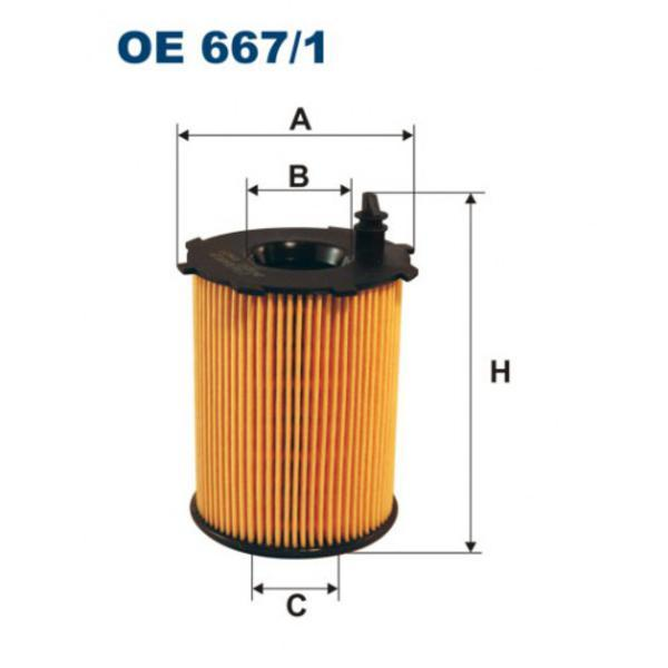 Фильтр масляный Filtron OE6671OE6671