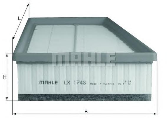 Фильтр воздушный Mahle/Knecht LX1748LX1748
