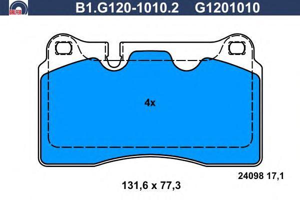 Колодки тормозные Galfer B1G12010102B1G12010102