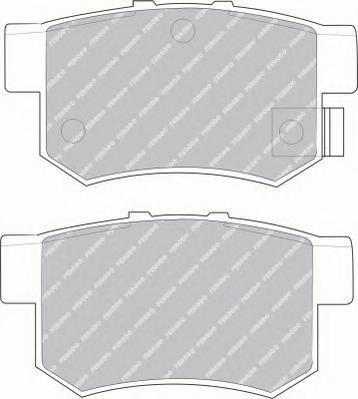 Колодки тормозные дисковые Premier Ferodo FDB956FDB956