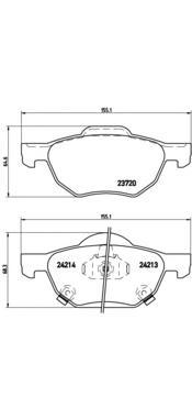 Колодки тормозные передние Brembo P28036P28036