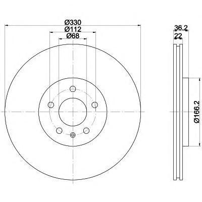 Диск тормозной задний Textar 92160303 комплект 2 шт92160303