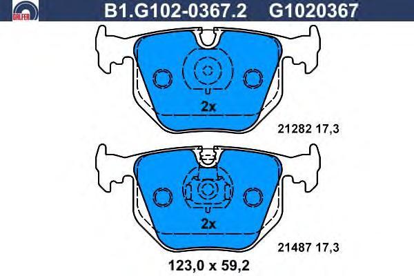 Galfer Колодки тормозные дисковые. B1G10203672B1G10203672