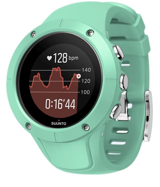 Спортивные часы Suunto Spartan Trainer Wrist Hr Ocean, цвет: зеленыйSS022670000Спортивные часы Suunto Spartan Trainer Wrist Hr Ocean - это отлично сидящие GPS-часы с превосходным дизайном, готовые к тренировкам по вашему велению: в плавании, в спортзале, на велосипеде или на пробежке.Оснащенные удобным запястным пульсометром часы Trainer отслеживают вашу активность и ведут подсчет калорий и шагов круглосуточно. Разнообразные спортивные и туристические режимы делают Spartan Trainer естественным напарником для выхода за границы, созданные городом, и границы ваших возможностей.Особенности изделия: Компактные и надежные!Срок работы от батареи до 10 ч с наивысшей точностью GPS (до 30 ч в экономном режиме).14 дней в режиме показа времени.Удобное измерение пульса на запястье.Компактный размер и оптимальный стиль и для спортивной, и для повседневной одежды.Водонепроницаемость до 50 м.Для разнообразных тренировок в помещении и на природе!Встроенные виды спорта: плавание, бег, велосипед, спортзал, турпоход и так далее.Скорость, темп и расстояние по данным GPS.Настраиваемые спортивные режимы с графиками и автоматическими этапами.Создавайте интервалы на часах и следуйте указаниям на экране.Возвращайтесь домой по навигационной цепочке пройденного пути.Навигация по маршруту с интересующими пунктами (POI) и расчетным временем прибытия (ETA).Отслеживание активности и мобильные уведомления!Круглосуточное отслеживание количества шагов, калорий и сна.Отслеживайте показатель пульса в покое, чтобы знать, когда вы в стрессе илиперетренированы.Настраивайте свои часы с индивидуальными экранами.Получайте уведомления о звонках, сообщениях и событиях календаря на часах.
