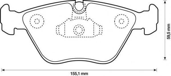 Колодки тормозные передние Jurid 571994J571994J