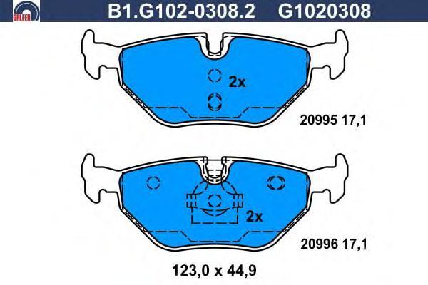 Колодки тормозные дисковые Galfer B1G10203082B1G10203082