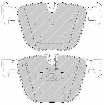 Колодки тормозные дисковые Premier Ferodo FDB1672FDB1672