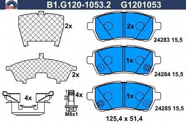 Колодки тормозные Galfer B1G12010532B1G12010532