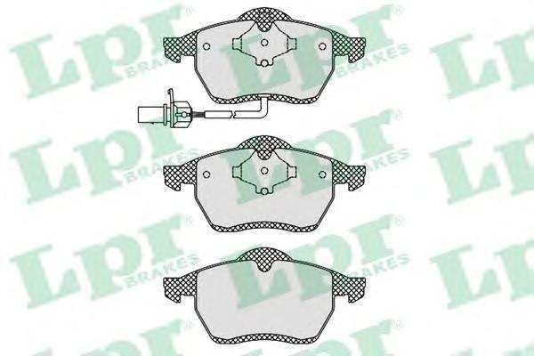Колодки тормозные передние LPR / AP 05P123805P1238