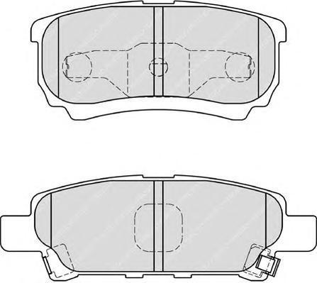 Ferodo Колодки тормозные дисковые Premier. FDB1839FDB1839