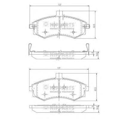 Колодки тормозные передние Nipparts J3600535J3600535