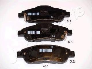 Колодки тормозные дисковые Japanparts PA405AFPA405AF