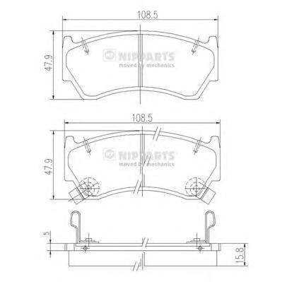 Колодки тормозные передние Nipparts J3601062J3601062