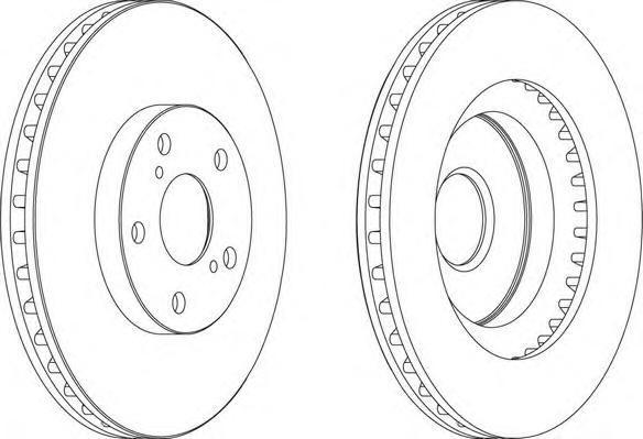 Диск тормозной задний/передний Ferodo DDF1646 комплект 2 штDDF1646